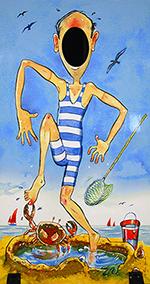 photo board, skinny jimmy, british seaside tradition