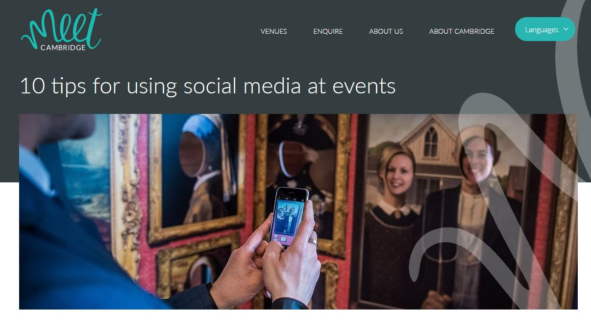 How to use social media at events