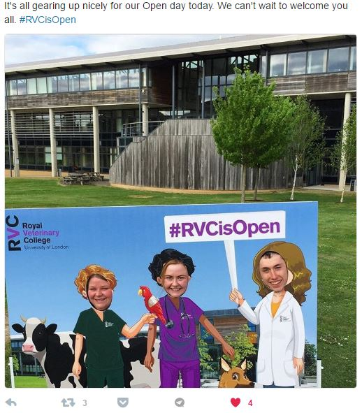 Photo cutout board for open days