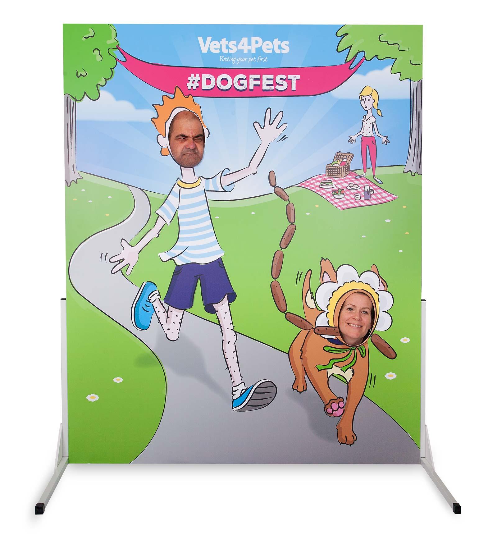 Dogs photo cutout board