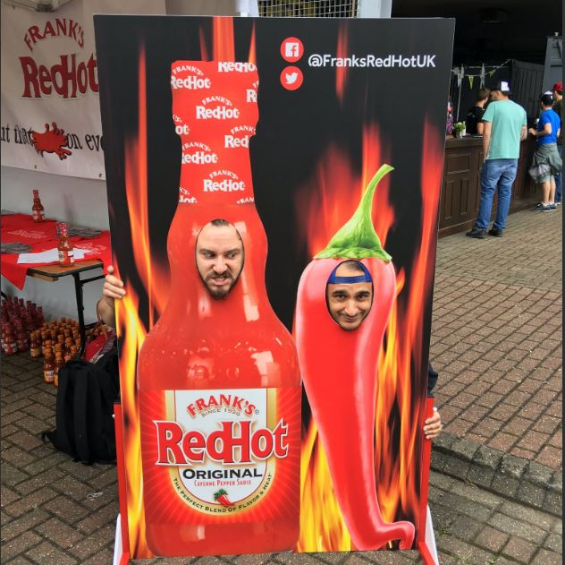 face in hole board marketing brands