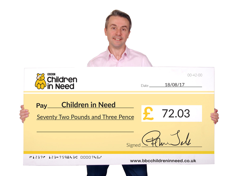 giant fundraising cheques archives - photocutouts face in the hole, Powerpoint templates