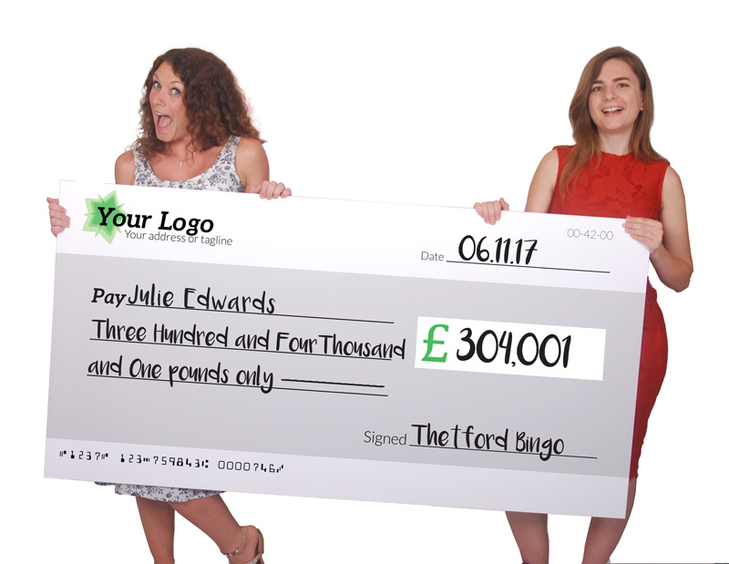 giant award cheques uk