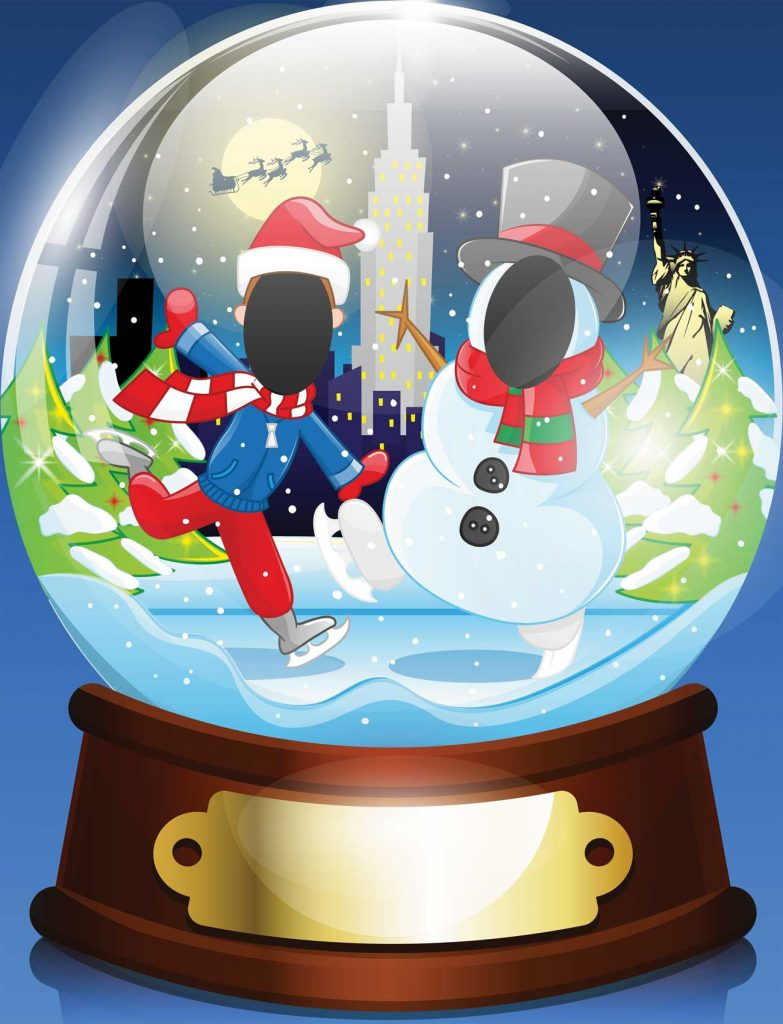 Christmas snow globe, marketing, experiential, events