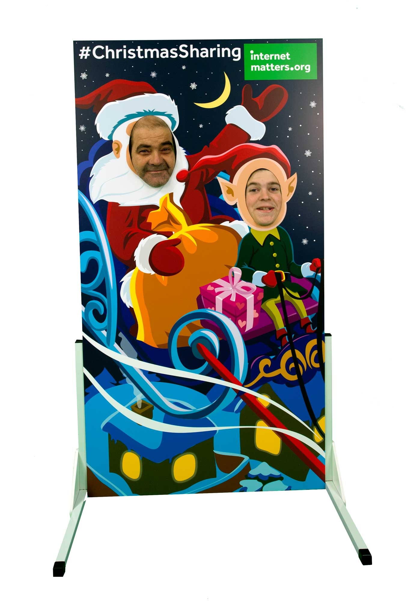 Christmas photo cutout board campaign