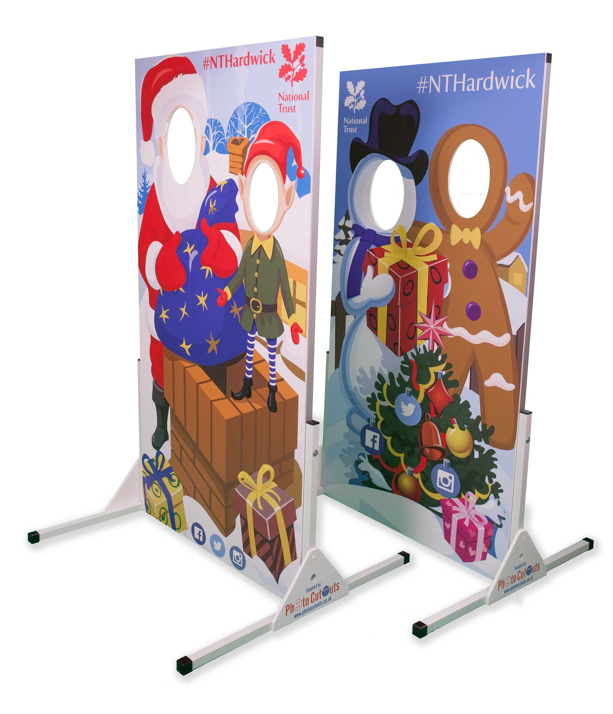 National Trust Christmas photo cutout boards - get your face in the ho-ho-hole!