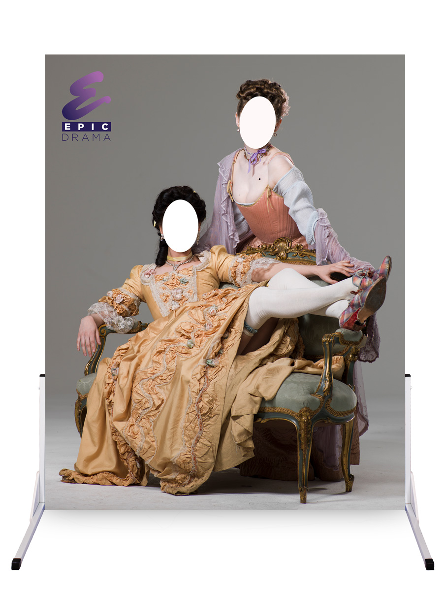 marketing a business with photo cutouts