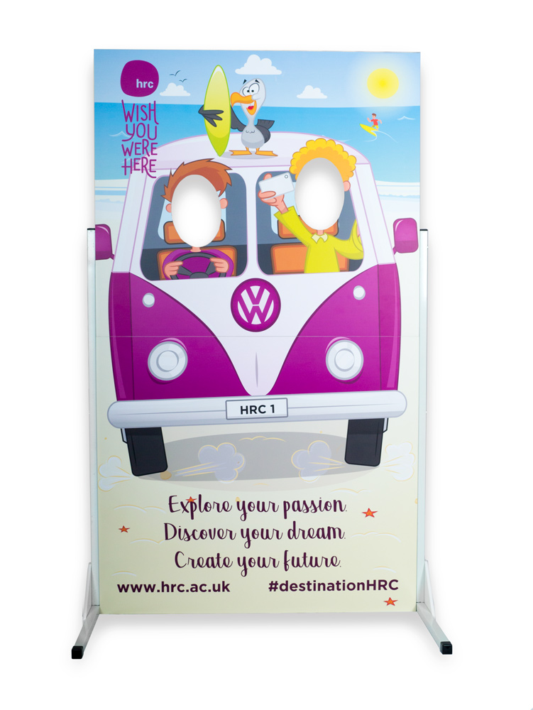 Summer event boards, Summer marketing props, compact marketing props UK