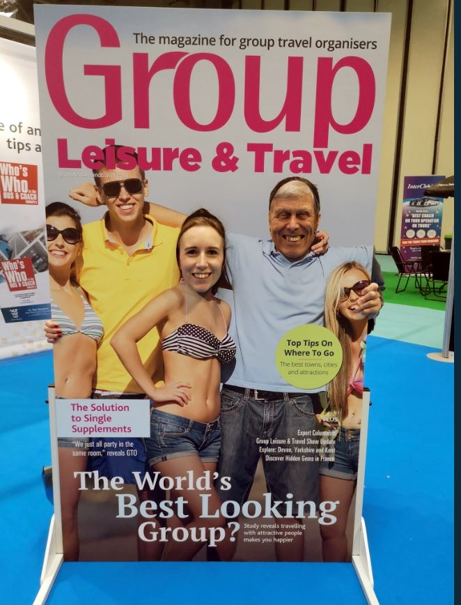 Magazine cover promotional board