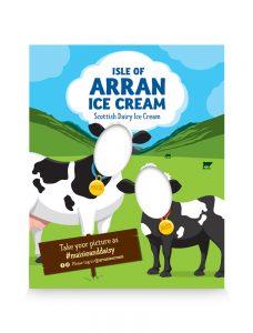 Animals cows ice cream