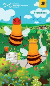 Bees animals promotional board