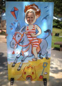 Donkey ride seaside