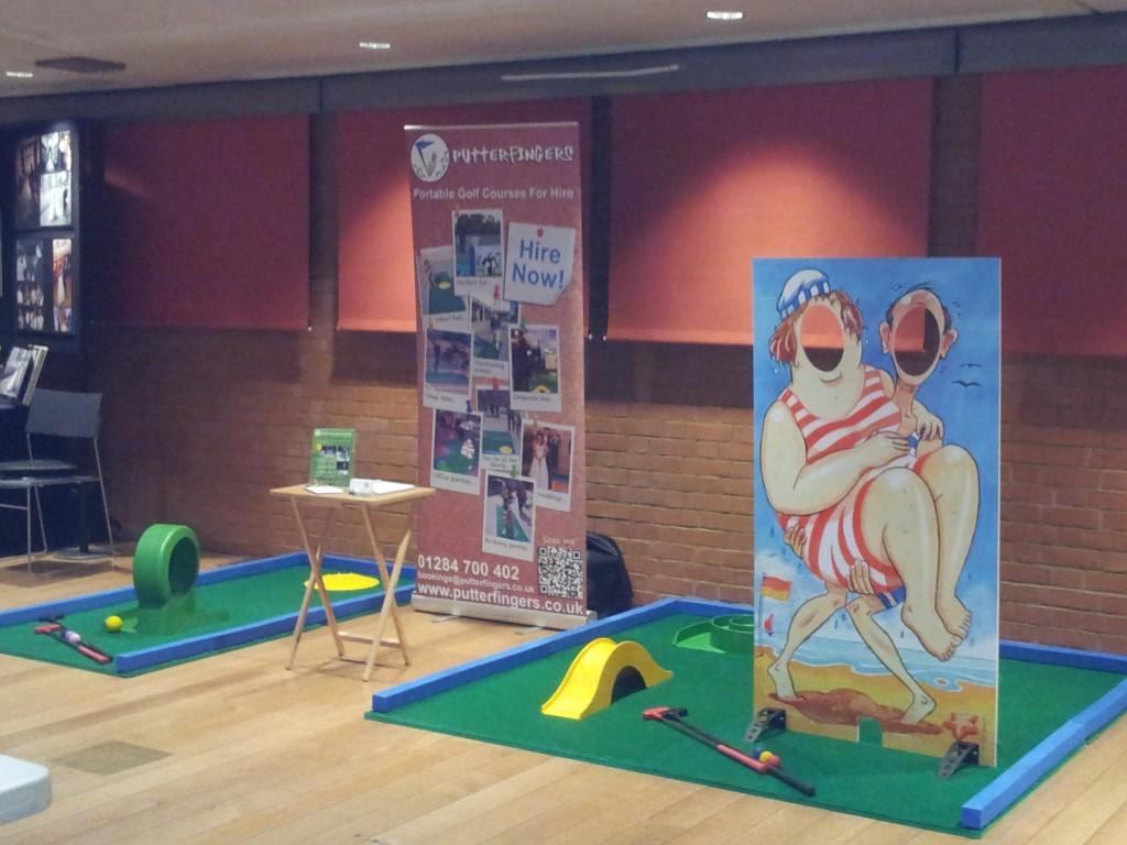 photo cutout boards, minigolf hire, corporate events