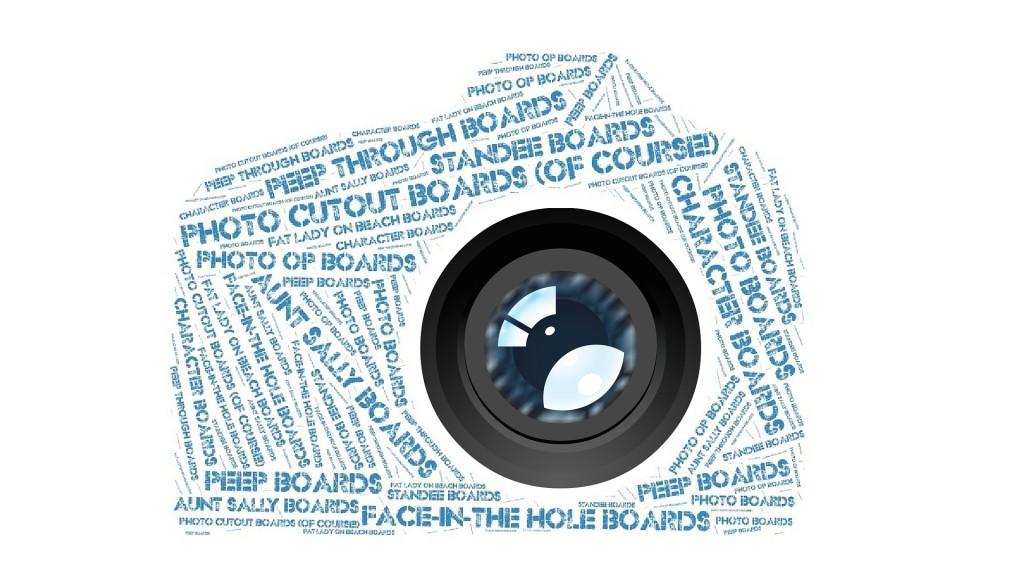 peep board, face-in-the-hole board, character board, photo op board, standee board