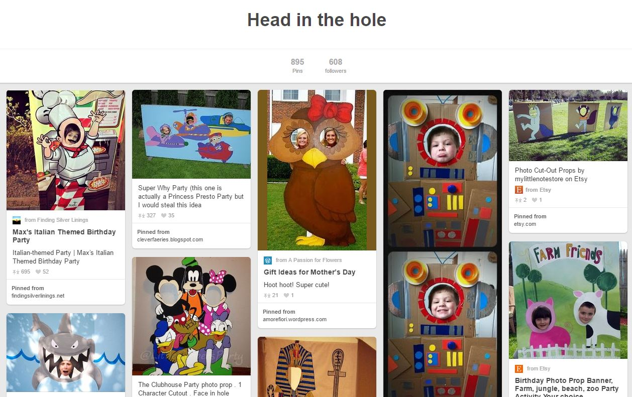 head in hole boards, face in hole boards, pinterest