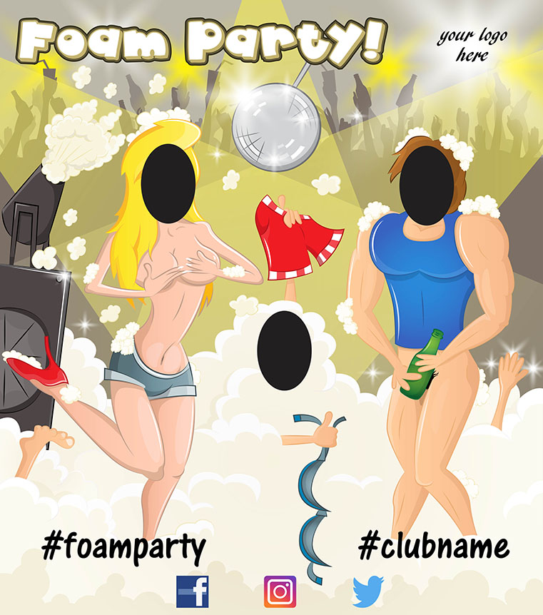 foam party, adult party ideas, peep board, fun, party