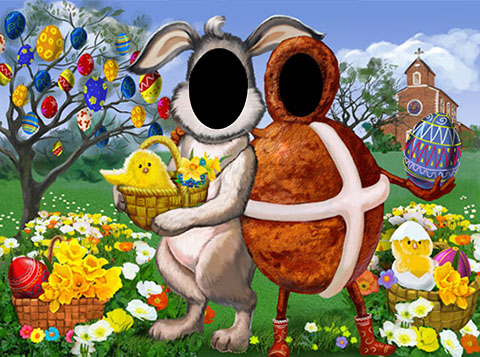 Easter party ideas, hot cross bun, easter bunny, easter eggs