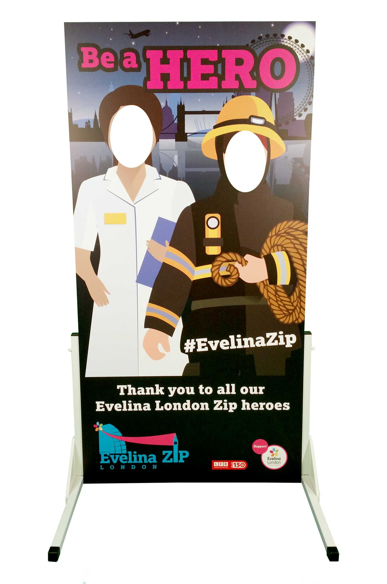 eveline zipwire, zip wire, King's College Hospital
