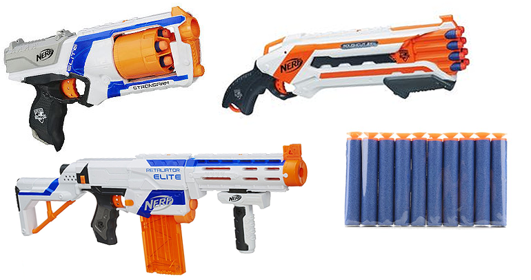 nerf guns, foam dart guns, zombie games