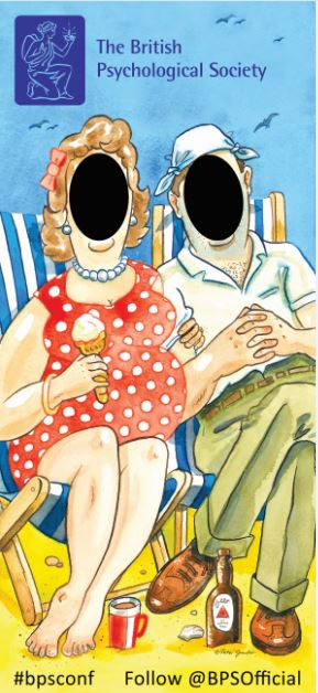 Doris and Dick traditional seaside face in hole board