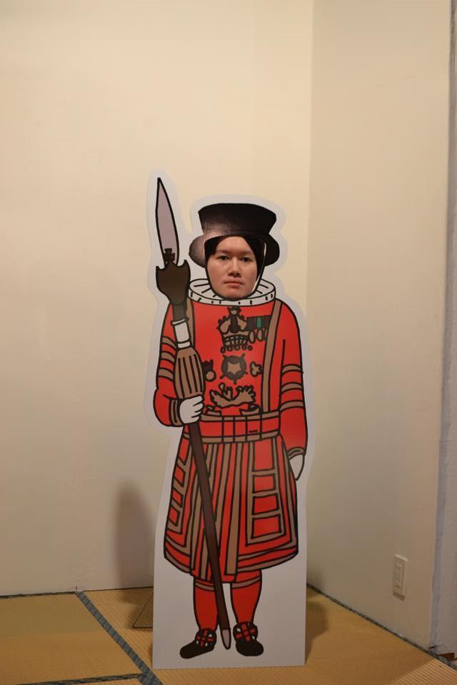Tomoyuki Shioya, face in the hole boards, photo cutout boards