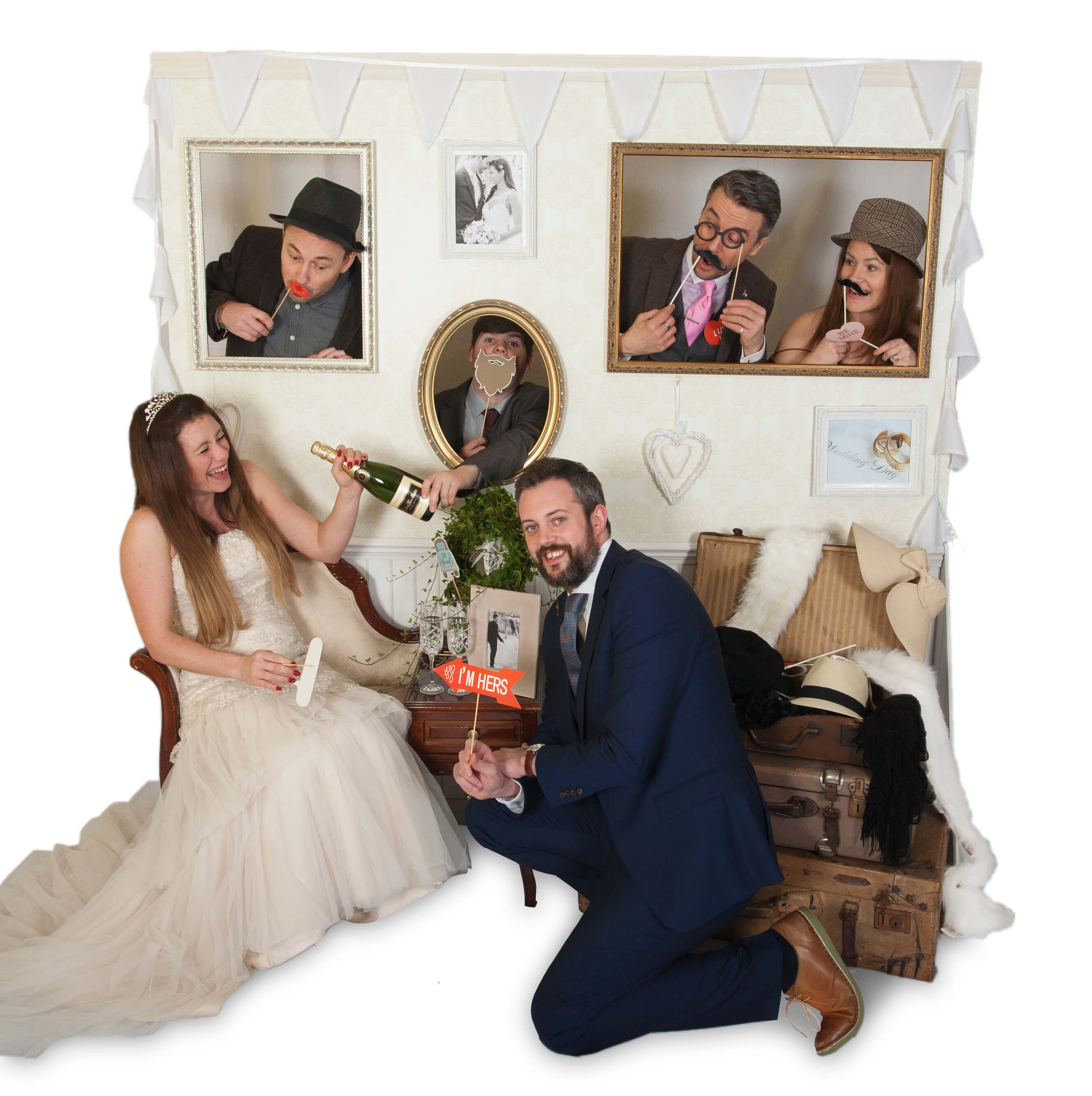 wedding photo walll