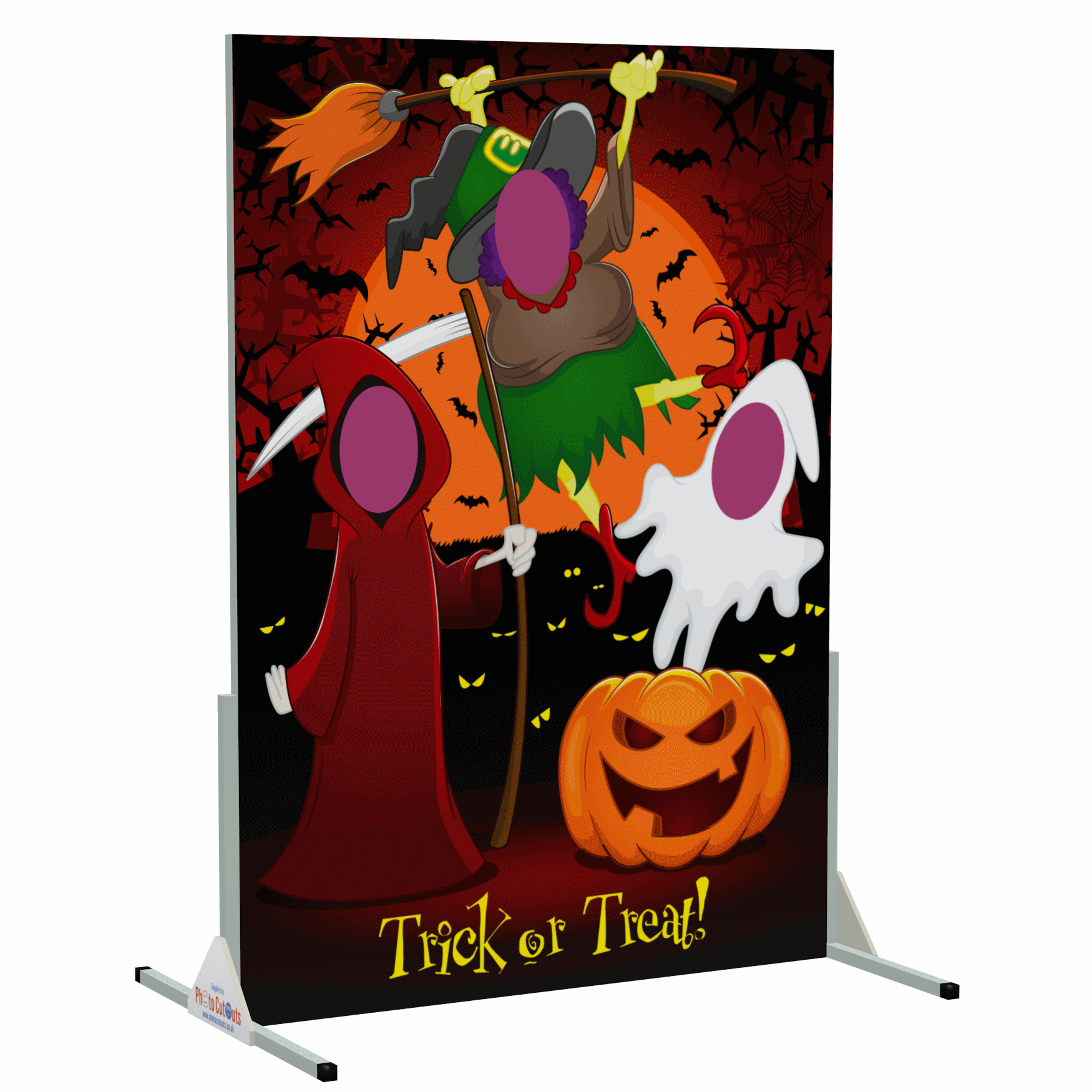 spooky, halloween, face in the hole board, dracula, bat, ghost, pumpkin