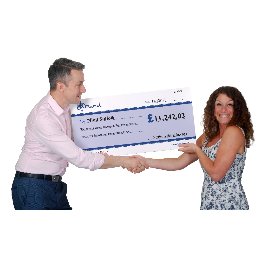 giant charity cheques