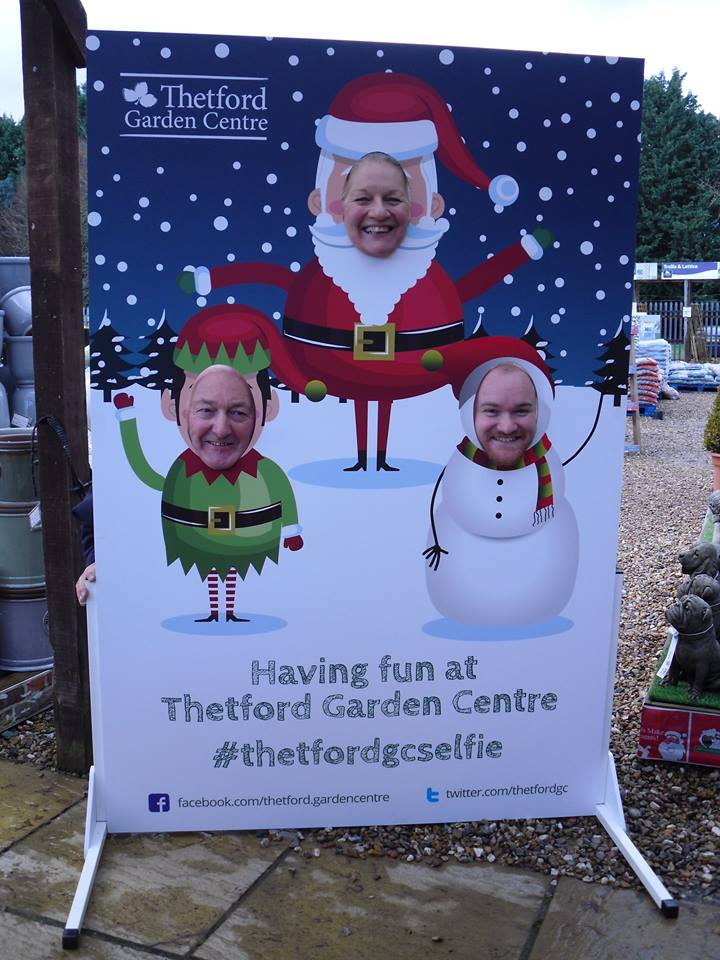 Christmas face in the hole Thetford