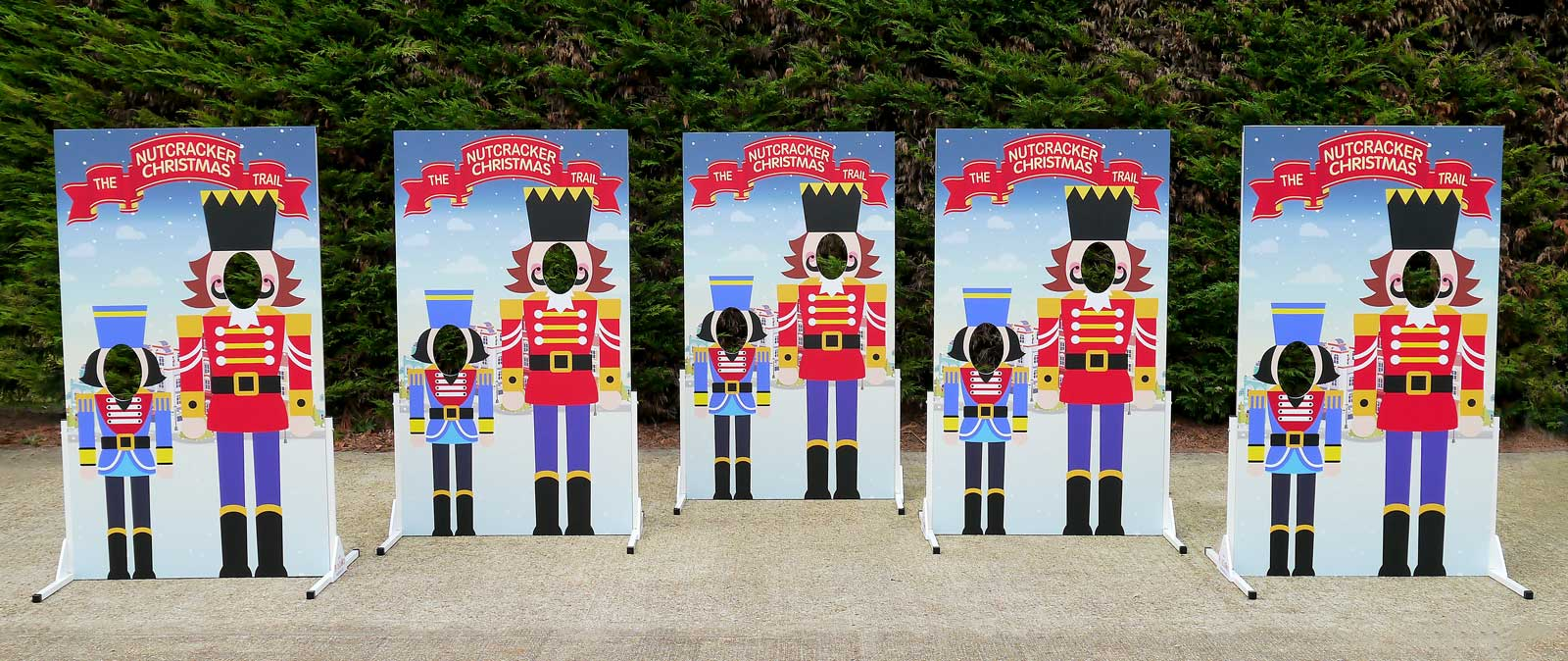 Christmas Nutcracker Trail photo board