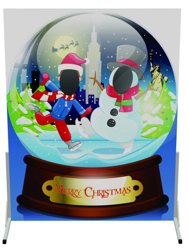 snow globe, ice skating, lee valley