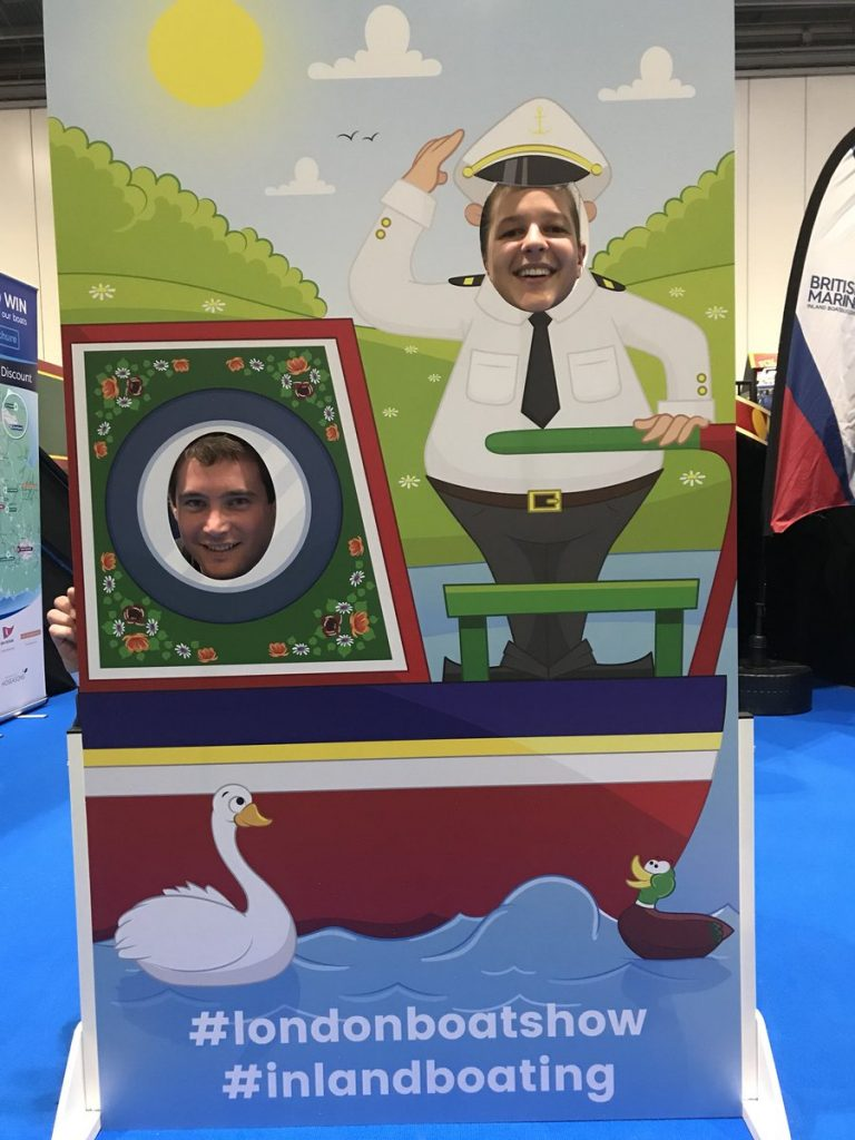 London Boat Show, photo Cutouts, marketing, branding
