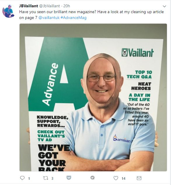Vaillant advance magazine photo cutouts