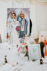 Wedding themed face-in-the-hole board