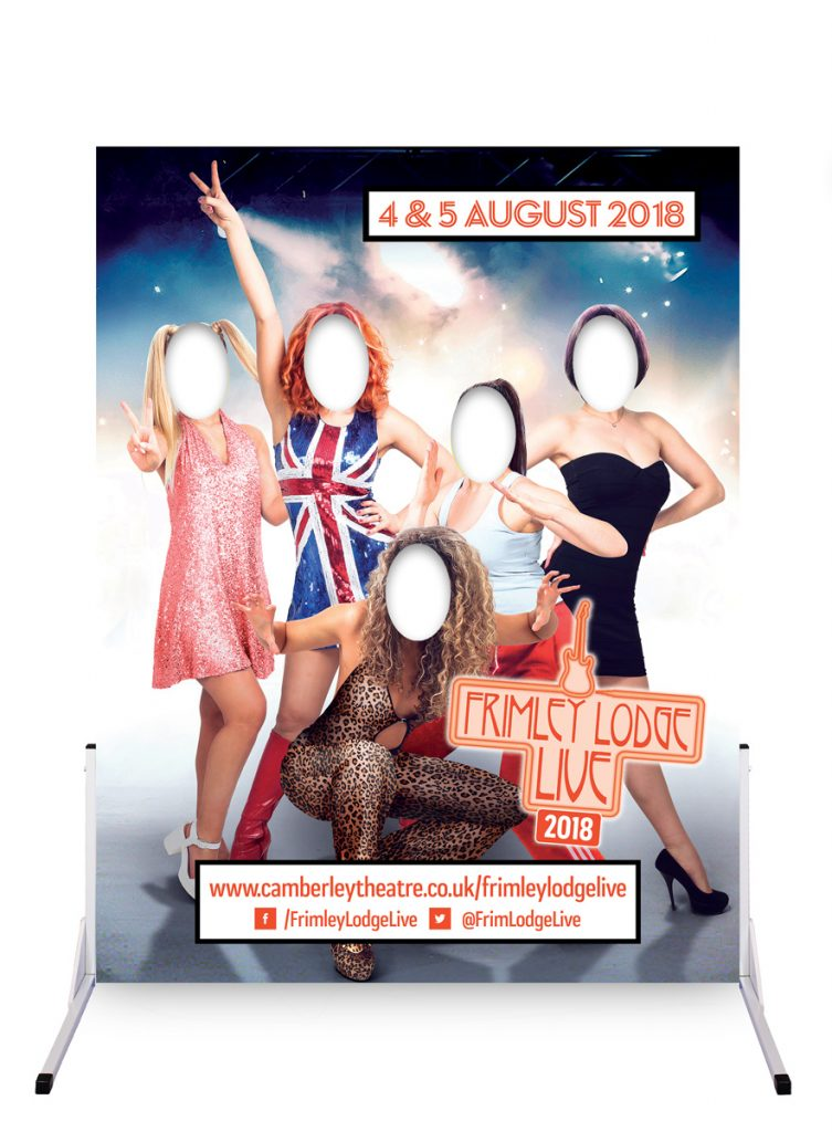 Spice Girls photo board festivals