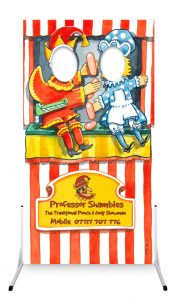 Children's entertainer Punch and Judy photo cutout board