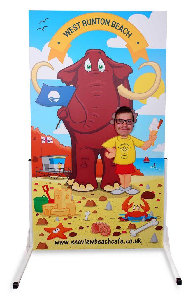 West Runton Beach Cafe seaside photo cutout board