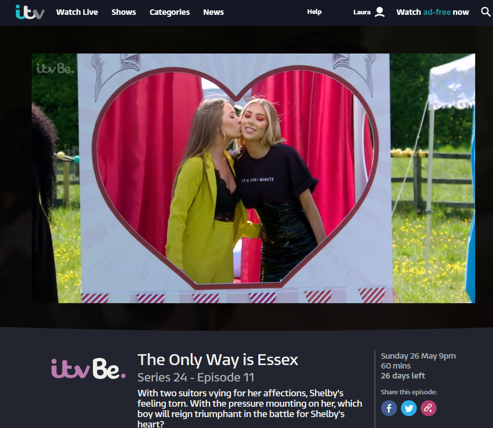 Kissing Booth TOWIE Screenshot
