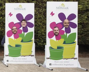 Millbrook garden centre use photo cutouts