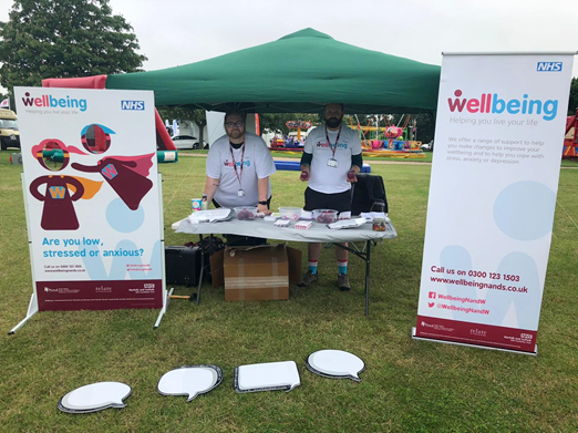 Wellbeing exhibition stand at Norfolk Show