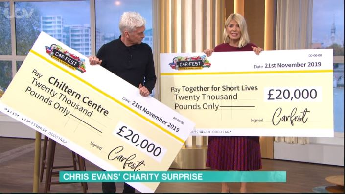 Giant cheque_ThisMorning
