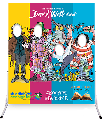 Magic Light Productions_David Walliams book-themed photo board