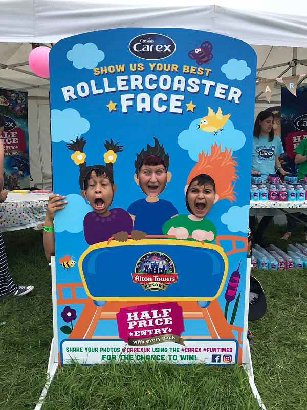 Carex UK - Cussons #rollercoasterface photo cutout board