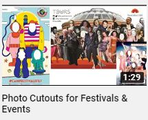 Photo Cutouts for Events and Festivals on YouTube
