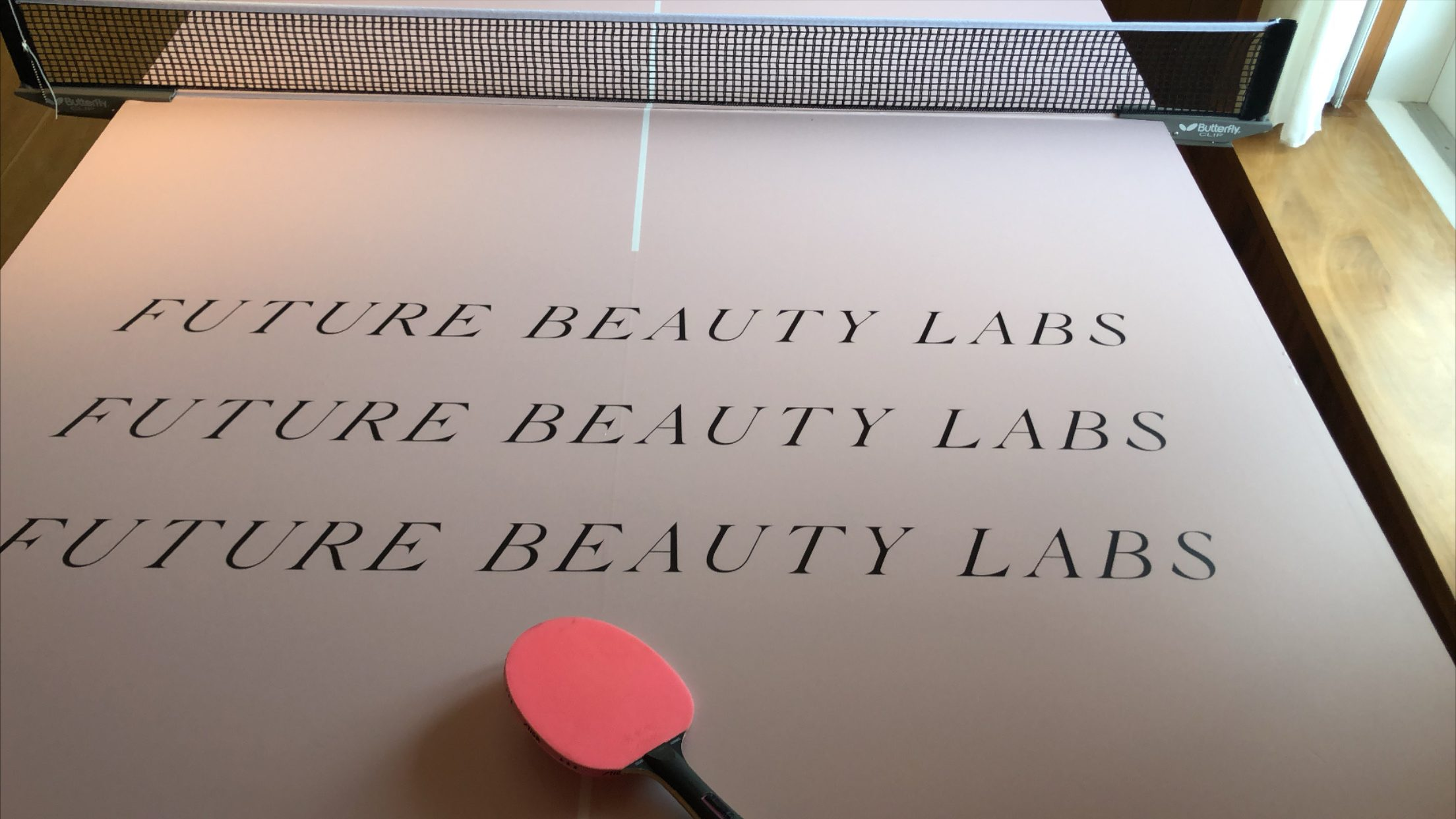 Future Beauty Labs branded table tennis