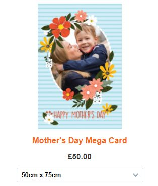 Giant Mother's Day cards