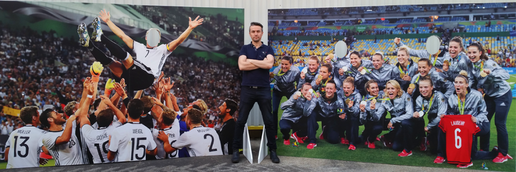Sport photo standees