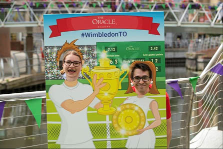Wimbledon photo board
