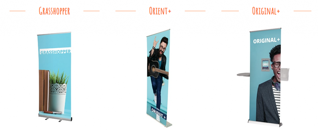 Roller banners for branding and marketing