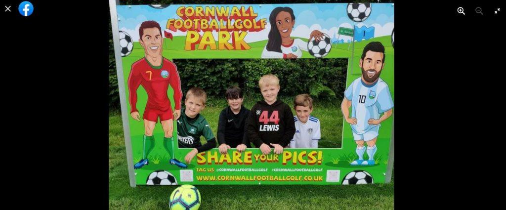 Cornwall Football Golf branded photo standin